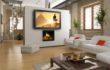 Телевизор в интерьере гостиной